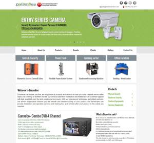 Portfolio - Website for Dreamline, Calicut
